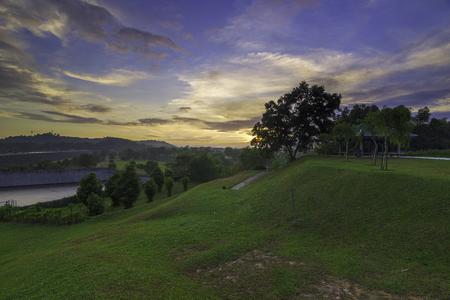 Scenery view near Putrajaya Butterfly Dam Imagens