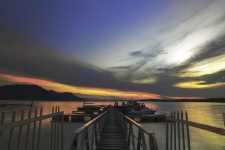 Scenery At a Jetty during sunset / sunrise