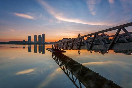 Pullman Putrajaya Lake in Sunrise / Sunset with Calmness Editorial