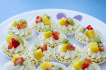 Fruity Cheese Tart serving on plate