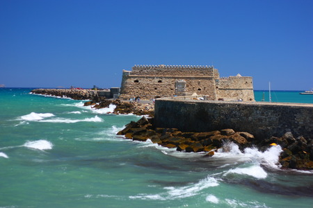 Fortress on the island of Crete Banco de Imagens