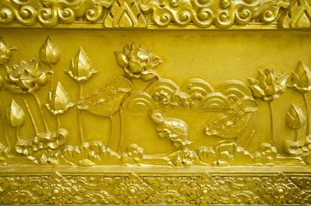 Thai Buddha statue in the church photo
