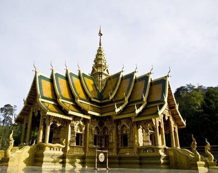 lanna: Church Wat Thai Lanna Style. Stock Photo