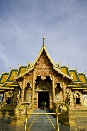 lanna: church wat thai lanna style Stock Photo