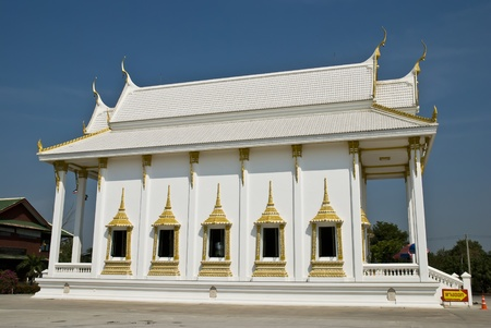 thai temple,Saman Rattana Ram Temple Chachoengsao In Thailand photo