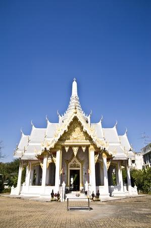 thai temple City Pillar Shrine Chachengsao In Thailand photo
