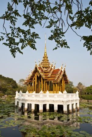 thai temple on the swamp photo