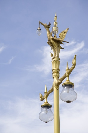 lamp in thai temple photo