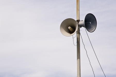 loudspeaker on pole photo