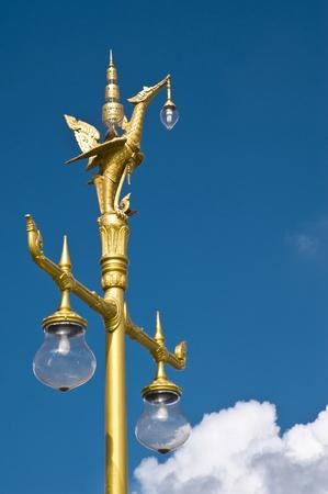 lamp in thai temple photo