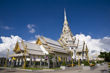thai temple  and nice sky photo