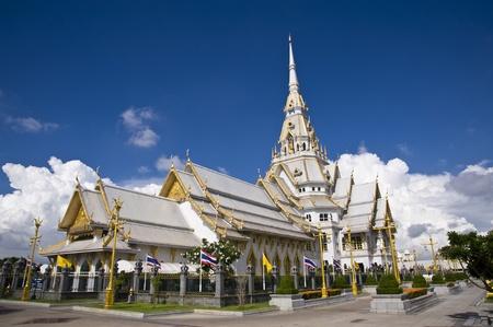 thai temple  and nice sky photo