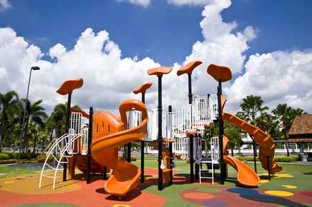 playgrounds in park photo