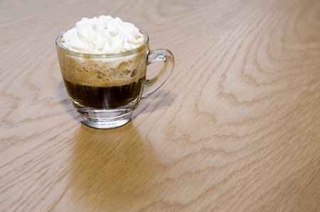 coffee hot size mini on wood backgrounds photo