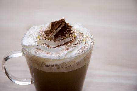 hot coffee on wood backgrounds Stock Photo - 10373939