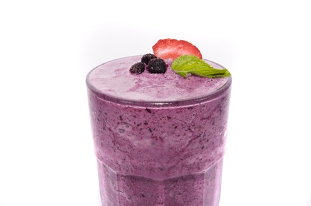 fruit smoothie: juice grapes on white backgrounds