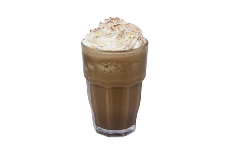 coffee ice on white backgrounds Stock Photo