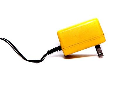 power plug on white backgrounds photo