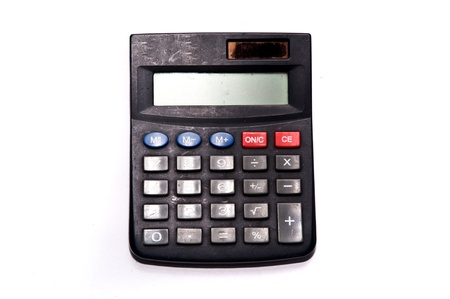 calculator on white backgrounds photo