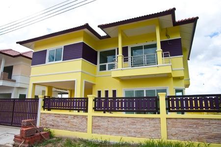house construction and nice blue sky