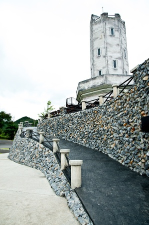 stairs and stone wall photo