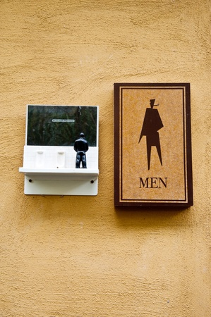 man toilet sight photo