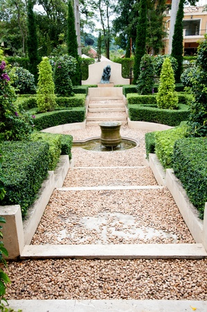 walk way in garden Editorial