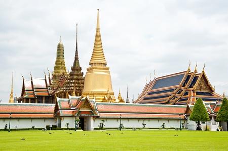 thai temple and nice sky Stock Photo