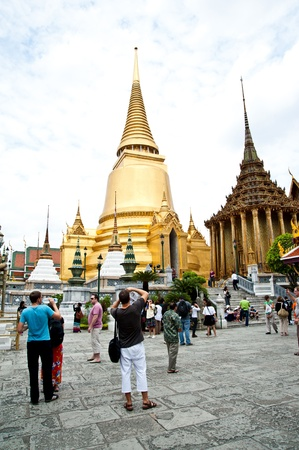 thai temple church and tourist