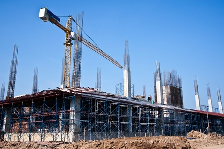 high rise buildings: building construction Stock Photo