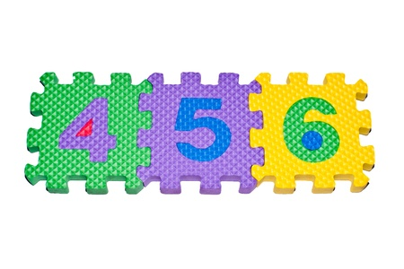 number 456 on white backgrounds Stock Photo - 12446709