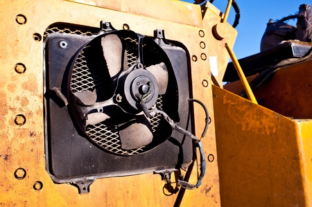 fan on machine construction Stock Photo