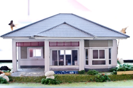 detached house: model house Stock Photo