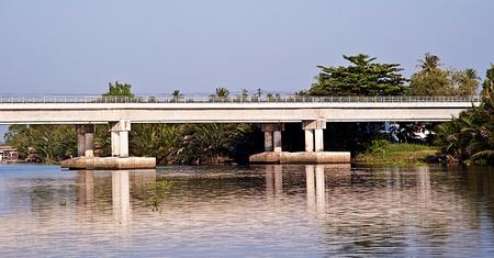 bridge cross the river Stock Photo