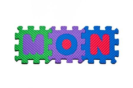 character MON  as Monday Stock Photo - 12433711