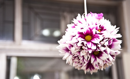 ball flower in house decoration in house photo