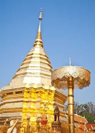 pagoda in thai temple,Chiang Mai,Thailand photo