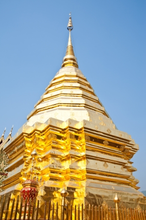 pagoda in thai temple,Chiang Mai,Thailand  photo