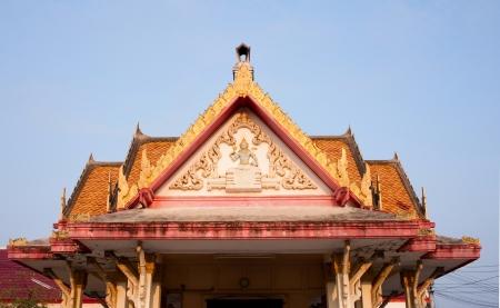 thai temple church roof Stock Photo