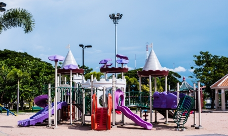 playgrounds in garden photo