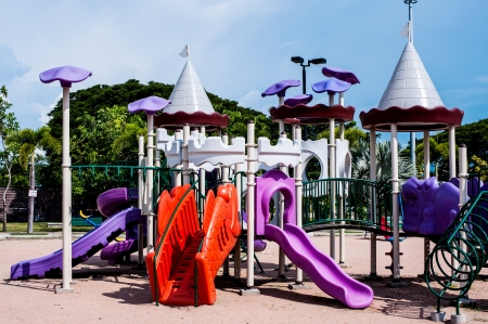 playgrounds in garden Stock Photo - 17138115