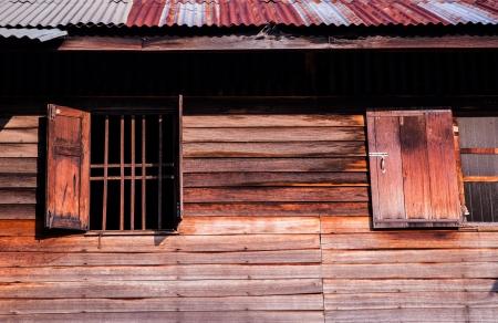 wood windoe,path of house photo