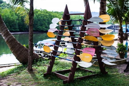oar near the river