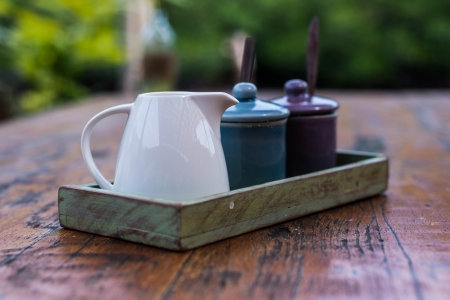 flavoring on wood table