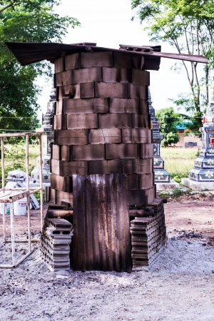 kiln for made buddha statue photo