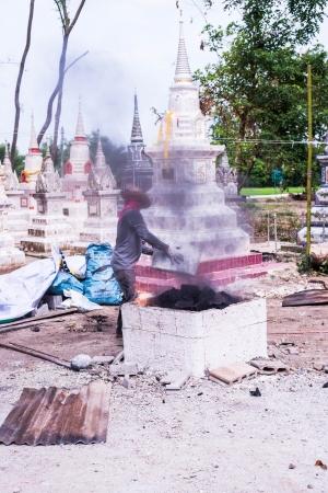 ceramicist: worker and kiln