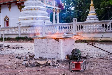 ceramicist: kiln in thai temple