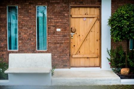 wood door,path of house