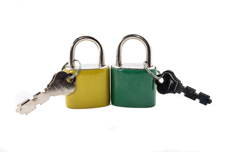 lock on white backgrounds photo