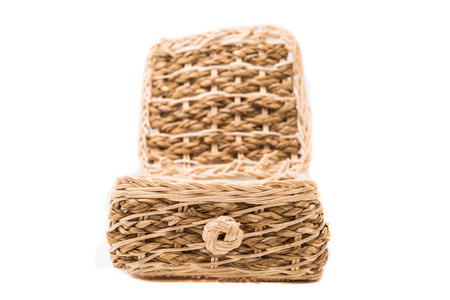 basket on white backgrounds photo